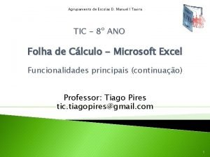 Agrupamento de Escolas D Manuel I Tavira TIC