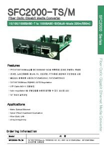 Fiber Optic Gigabit Media Converter 101000 BASET to