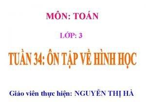 MN TON LP 3 Gio vin thc hin