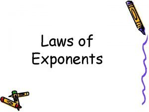 Laws of Exponents 1 Product Law 1 Product