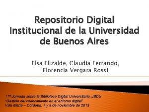 Repositorio Digital Institucional de la Universidad de Buenos