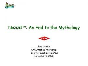 Ne SSI An End to the Mythology Rob