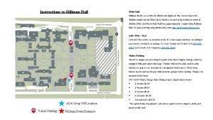 Instructions to Hillman Hall Metro Link Hillman Hall