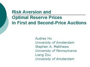 Risk Aversion and Optimal Reserve Prices in First