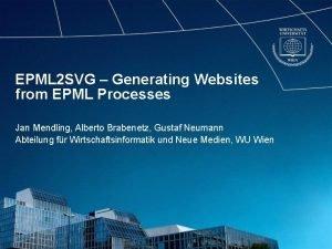 EPML 2 SVG Generating Websites from EPML Processes