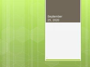 September 25 2020 1 2 September 25 2020