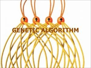 GENETIC ALGORITHM General Introduction to GAs Genetic algorithms