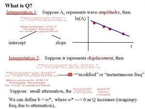 What is Q Interpretation 1 intercept Interpretation 2
