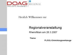 Herzlich Willkommen zur Regionalveranstaltung RheinMain am 26 3