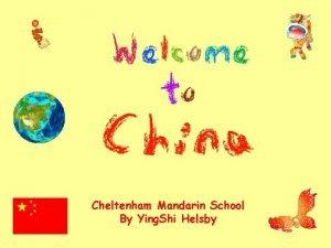 Cheltenham Mandarin School By Ying Shi Helsby A