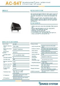 ACS 4 T Acousticcoverage series surfacemount 6 5