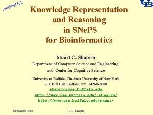 alo cse f buf Knowledge Representation and Reasoning