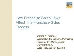 How Franchise Sales Laws Affect The Franchise Sales