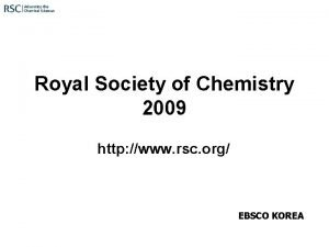 Royal Society of Chemistry 2009 http www rsc