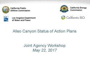 California Public Utilities Commission California Energy Commission Los