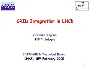 GRID Integration in LHCb Vincenzo Vagnoni INFN Bologna
