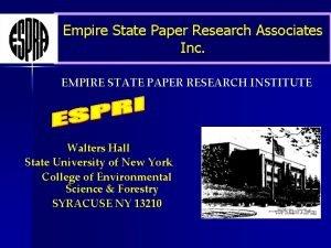 Empire State Paper Research Associates Inc EMPIRE STATE