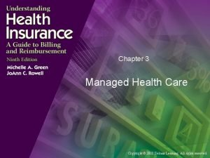 Chapter 3 Managed Health Care Copyright 2008 Delmar