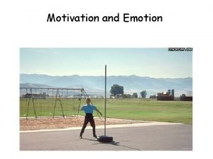 Motivation and Emotion Motivation Instinct Theory we are
