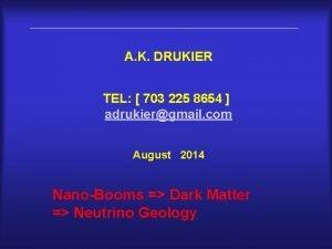 A K DRUKIER TEL 703 225 8654 adrukiergmail