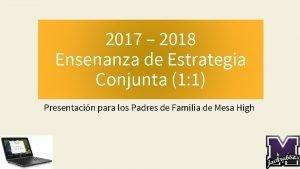 2017 2018 Ensenanza de Estrategia Conjunta 1 1