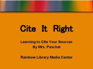 Cite It Right Learning to Cite Your Sources