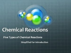 Chemical Reactions Five Types of Chemical Reactions Simplified