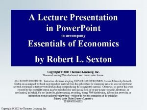 A Lecture Presentation in Power Point to accompany