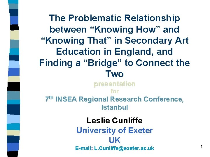 The Problematic Relationship between Knowing How and Knowing