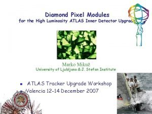 Diamond Pixel Modules for the High Luminosity ATLAS