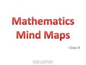Mathematics Mind Maps Class X MIND MAP G