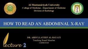 AlMustansiriyah University College of Medicine Department of Medicine