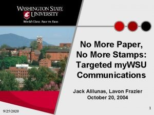 No More Paper No More Stamps Targeted my