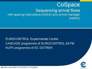 Co Space Sequencing arrival flows with spacing instructions