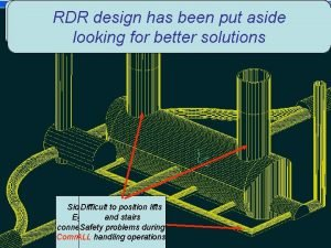 Strong interference Started in RDR Logistics Safety RDR