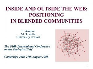 INSIDE AND OUTSIDE THE WEB POSITIONING IN BLENDED