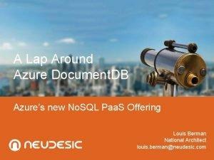 A Lap Around Azure Document DB Azures new