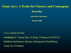 Giant Arcs A Probe for Clusters and Cosmogony