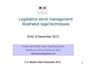 Legislative stock management Illustrated legal techniques Erbil 6