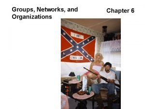 Groups Networks and Organizations Chapter 6 Groups Networks