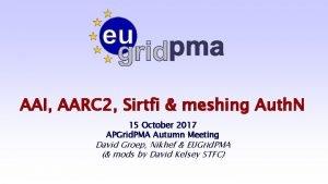 AAI AARC 2 Sirtfi meshing Auth N 15