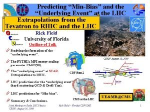 Predicting MinBias and the Underlying Event at the