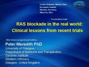 Cardio Diabetes Master Class European chapter Munich Germany