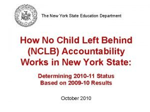 The New York State Education Department How No