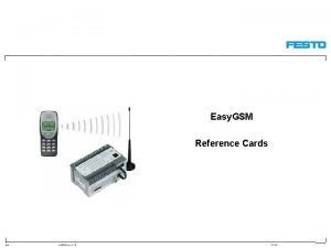 Easy GSM Reference Cards S 5de Easy GSM