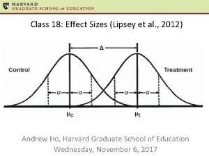 Class 18 Effect Sizes Lipsey et al 2012