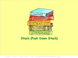 Stack Push Down Stack KMITL 01076249 Data Structures