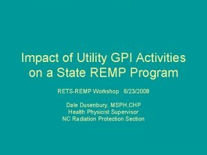 Impact of Utility GPI Activities on a State