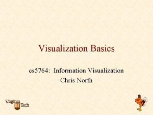 Visualization Basics cs 5764 Information Visualization Chris North