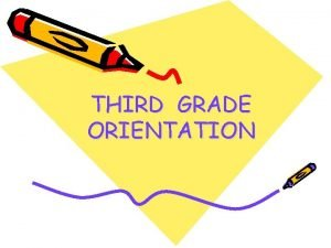 THIRD GRADE ORIENTATION WELCOME TO ALL PARENTS Principal